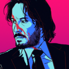 John Wick neon background