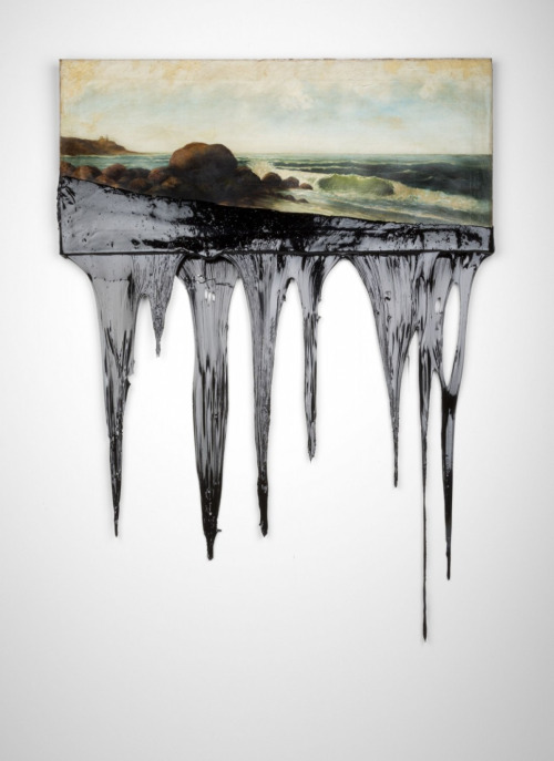 oil spill painting